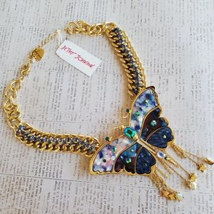 Betsey Johnson Fly Away With Me Butterfly Necklace